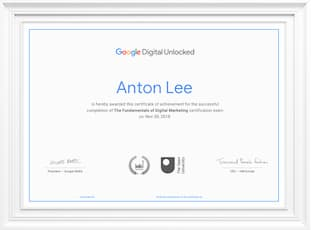 Fundamentals of Digital Marketing course by Google