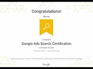 Google digital marketing course-Ads Search