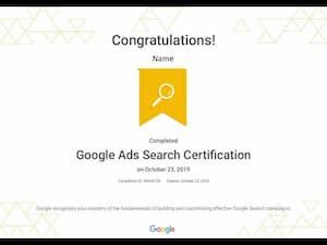 Google digital marketing course-Ads Search