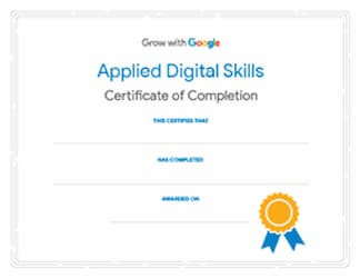 Google digital tools certification