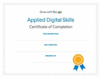 Google digital tools certification