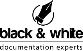 Black & White documentation experts logo